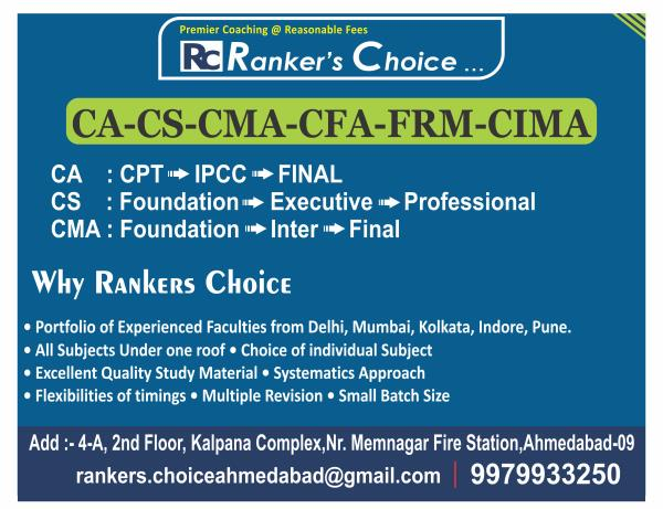 Rankers Choice...CA - CS